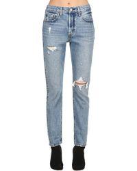 Levi's - 501 High Waist Destroyed Denim Jeans - Lyst