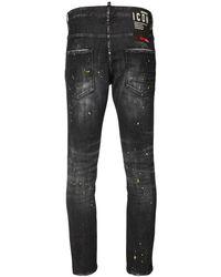 DSquared² 16cm Jeans Aus Baumwolldenim Mit D25-patch - Schwarz