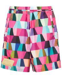 Formy Studio Teti Techno Shorts W/logo - Pink