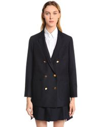 Thom Browne - Double Breasted Wool & Mohair Blazer - Lyst