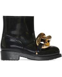 JW Anderson 15mm Embellished Rubber Ankle Boots - Black