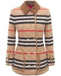 Burberry Стеганая Куртка Upton С Полосами - Многоцветный