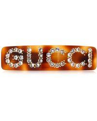 Gucci - Hair Barrette W/ Crystals - Lyst