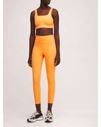 GIRLFRIEND COLLECTIVE 7/8-leggings Mit Hohem Bund - Orange