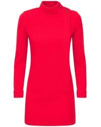 Saint Laurent - Трикотажное Платье Из Шерсти - Lyst