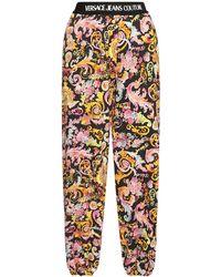 Versace Jeans Couture Спортивные Брюки Из Хлопкового Джерси С Принтом - Черный