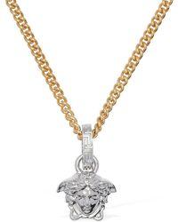Versace Collana A Catena Bicolor Con Charm Medusa - Metallizzato