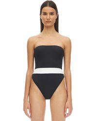 AEXAE Bandeau Lycra One-piece Swimsuit - Black