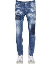 DSquared² Jeans Skinny In Denim Stretch 15Cm - Blu