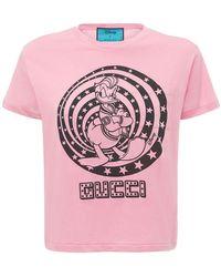Gucci Disney X コットンジャージーtシャツ - ピンク