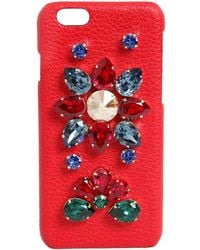 Dolce & Gabbana - Crystals Embellished Iphone 6 Case - Lyst