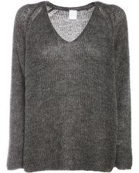 Max Mara モヘアブレンドニットセーター - グレー