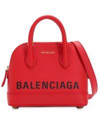 Balenciaga - Xs Ville Textured Leather Bag - Lyst
