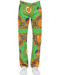 """CASABLANCA Jeans """"Les Oranges"""" In Denim Di Cotone - Multicolore"""