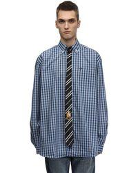 Vetements - Check Cotton Shirt W/ Striped Tie - Lyst