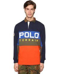 Polo Ralph Lauren Свитшот Из Хлопкового Джерси - Синий
