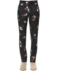 Amiri Pantalones De Jacquard Floral - Negro