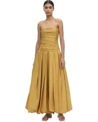 Khaite - Платье Из Хлопковой Саржи - Lyst