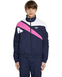 Reebok Nylon Track Jacket - Blue