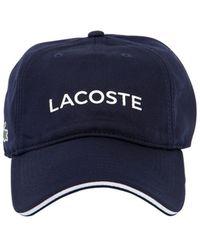 Lacoste - Cappello In Piqué - Lyst