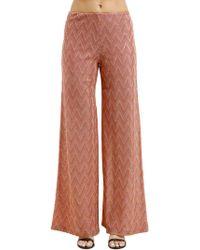 M Missoni - Lurex Jersey Wide Trousers - Lyst