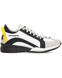 "DSquared² Sneakers ""reflective 551"" In Pelle - Nero"