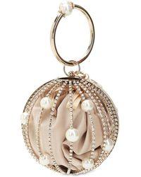 Rosantica Sasha Crystal Sphere Top Handle Bag - Mettallic