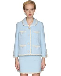 Marc Jacobs Embellished Tweed Jacket - Blau