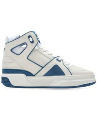 Just Don Basketball Courtside Hi Leather Trainers - White