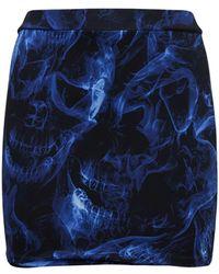 Vetements Mini Falda De Jersey Stretch Con Estampado - Azul