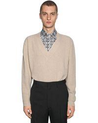 Fendi Oversize Cashmere Knit Sweater - Natural