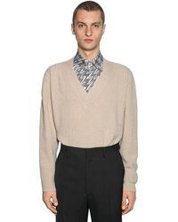 Fendi Oversize Cashmere Knit Jumper - Natural