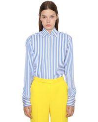 Ralph Lauren Collection - コットンポプリンボーイフレンドシャツ - Lyst