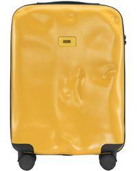 """Crash Baggage Maleta Trolley De Cabina """"Icon"""" Con 40 Ruedas 4L - Amarillo"""