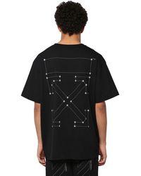Off-White c/o Virgil Abloh T-Shirt Oversize En Coton Imprimé - Noir