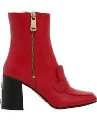 HAVVA - 75mm Xo Leather Ankle Boots - Lyst