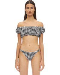 "Solid & Striped Bas De Bikini À Motif Vichy ""Eloise"" - Noir"
