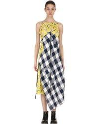 R13 Patchwork Cotton Midi Dress - Multicolor