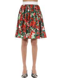 Dolce & Gabbana コットンポプリン Aラインスカート - レッド