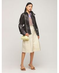 Bottega Veneta Куртка Из Блестящей Кожи - Коричневый