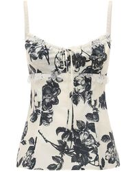 Brock Collection - Floral コットンポプリントップ - Lyst
