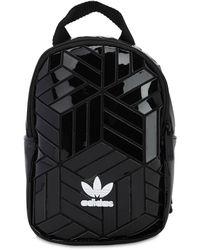 adidas Originals Mini Rucksack Aus Kunstlackleder - Schwarz
