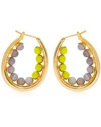 Anton Heunis - Color Block Oval Hoop Earrings - Lyst