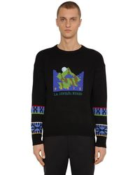 KENZO Mountain Artwork ウールジャカードセーター - ブラック