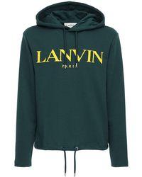 Lanvin - コットンスウェットフーディ - Lyst