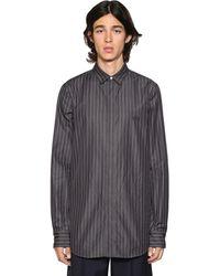 Balenciaga Langes Techno-shirt Mit Nadelstreifen - Schwarz