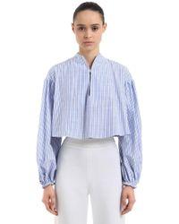 Stella Jean - Striped Cotton Cropped Top - Lyst