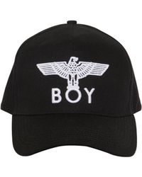 BOY London Logo Embroidered Canvas Hat - Black