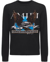 Amiri Eagle カシミアブレンドニットセーター - ブラック