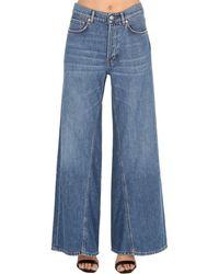 Ganni Jeans In Denim Di Cotone - Blu